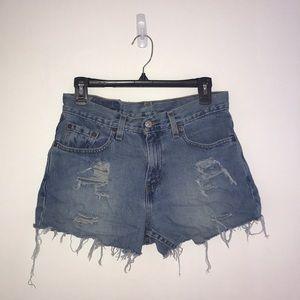 Levi's vintage distressed shorts